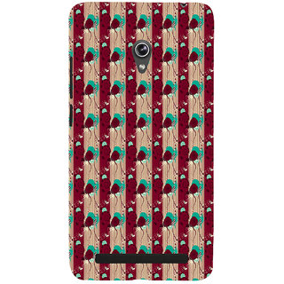 ifasho Animated Pattern design colorful flower in vertical s3Dipe Back Case Cover for Asus Zenfone 6