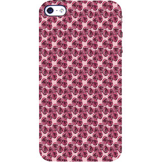 ifasho Animated Pattern small purple rose flower Back Case Cover for Apple iPhone 5