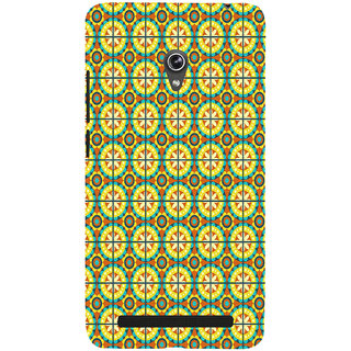 ifasho Animated Pattern design colorful flower in royal style with lines Back Case Cover for Asus Zenfone 6