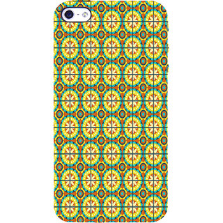 ifasho Animated Pattern design colorful flower in royal style with lines Back Case Cover for Apple iPhone 5