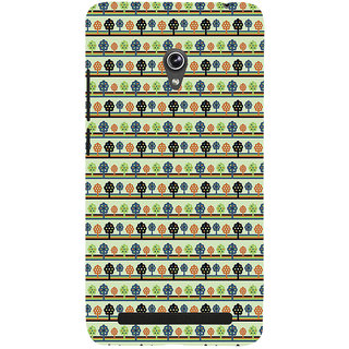 ifasho Animated Pattern colrful 3Dibal design with small 3Dees  Back Case Cover for Asus Zenfone 6