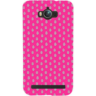 ifasho Animated Pattern design white flower in pink background Back Case Cover for Asus Zenfone Max