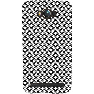 ifasho Modern Theme of black and white Squre lines Back Case Cover for Asus Zenfone Max