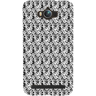ifasho Animated Pattern black and white jasmin flower Back Case Cover for Asus Zenfone Max