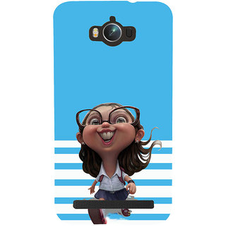 ifasho Cute Girl with Specs running to school cartoon Back Case Cover for Asus Zenfone Max