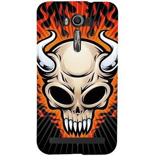ifasho Modern  Design animated skeleton Back Case Cover for Asus Zenfone 2 Laser ZE601KL
