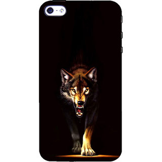 ifasho Angry Wolf Back Case Cover for Apple iPhone 5