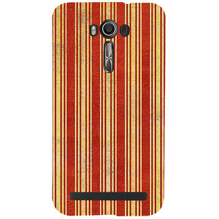 ifasho Design lines pattern Back Case Cover for Asus Zenfone 2 Laser ZE601KL