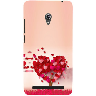 ifasho Animated Pattern With Love and heart and Ishq Back Case Cover for Asus Zenfone 6