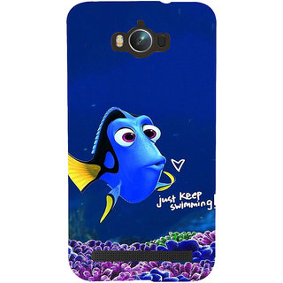 ifasho Fish cartoon just keep swimming Back Case Cover for Asus Zenfone Max