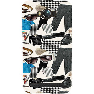 ifasho Modern Art Design Pattern man dress shoes spec belt Back Case Cover for Asus Zenfone Max