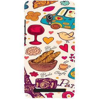ifasho Modern Art Design Pattern car food tower bird Back Case Cover for Asus Zenfone 5