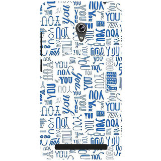 ifasho You letter pattern Back Case Cover for Asus Zenfone 5