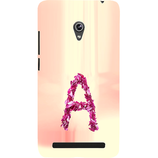 ifasho alphabet name series A Back Case Cover for Asus Zenfone 5