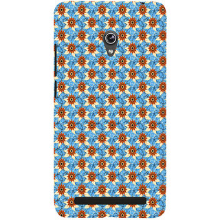 ifasho Modern Art Design animated cloth Pattern of sunflower Back Case Cover for Asus Zenfone 6