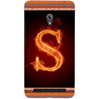 ifasho alphabet name series S Back Case Cover for Asus Zenfone 6