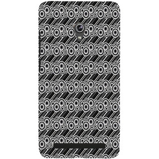 ifasho Animated Pattern  littel and Big Circle black and white with lines Back Case Cover for Asus Zenfone 6