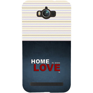 ifasho Home is where love is quote Back Case Cover for Asus Zenfone Max
