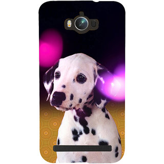 ifasho Black and White Dot Dog Back Case Cover for Asus Zenfone Max
