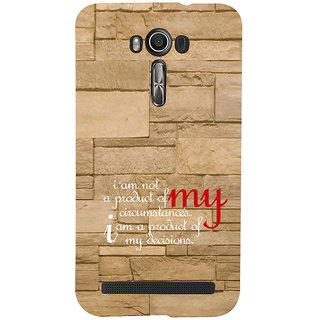 ifasho Kowledge quotes on stone pattern  Back Case Cover for Asus Zenfone 2 Laser ZE601KL