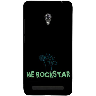 ifasho me rock star quote Back Case Cover for Asus Zenfone 6