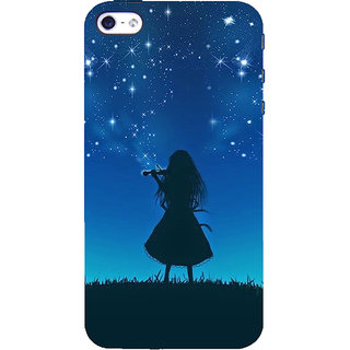 ifasho Girl playing violin Back Case Cover for   5