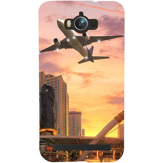 ifasho aeroPlane flying in city Back Case Cover for Asus Zenfone Max