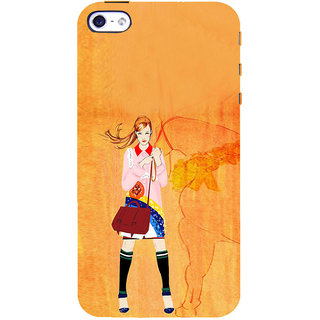 ifasho Girl with Horse Back Case Cover for Apple iPhone 5