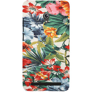 ifasho Animated Pattern colrful flower with leaves Back Case Cover for Asus Zenfone 6