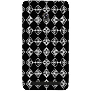 ifasho Modern Theme of royal design in black and white pattern Back Case Cover for Asus Zenfone 5