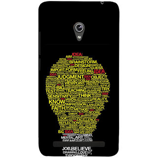 ifasho Quotes on idea animated bulb Back Case Cover for Asus Zenfone 6