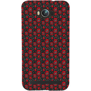 ifasho Animated Pattern small red rose flower with black background Back Case Cover for Asus Zenfone Max