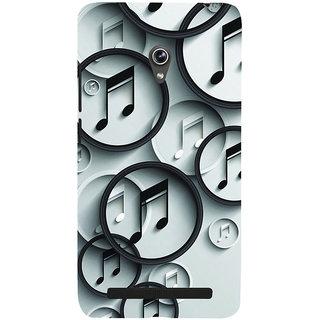 ifasho Modern Art Design Pattern Music symbol Back Case Cover for Asus Zenfone 6