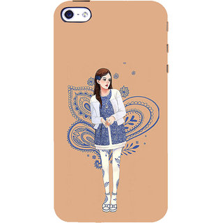 ifasho Beautiful Girl Back Case Cover for Apple iPhone 5