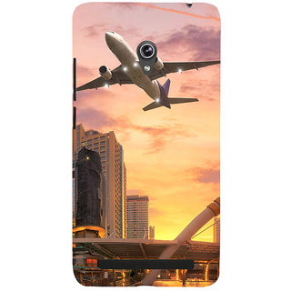 ifasho aeroPlane flying in city Back Case Cover for Asus Zenfone 6