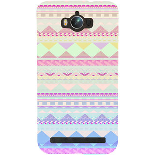 ifasho multi color 3Diangular Pattern Back Case Cover for Asus Zenfone Max
