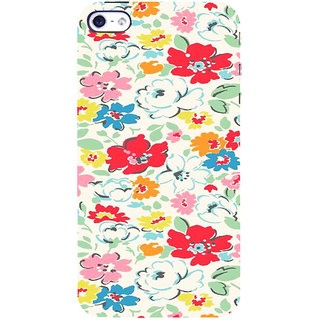 ifasho Animated Pattern colrful flower with leaves Back Case Cover for Apple iPhone 5