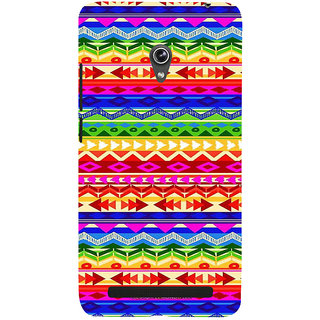 ifasho multi color 3Diangular and circle Pattern Back Case Cover for Asus Zenfone 6