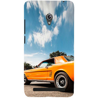 ifasho Orange colour Car Back Case Cover for Asus Zenfone 6