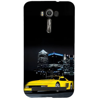 ifasho Stylish Yellow Car Back Case Cover for Asus Zenfone 2 Laser ZE601KL