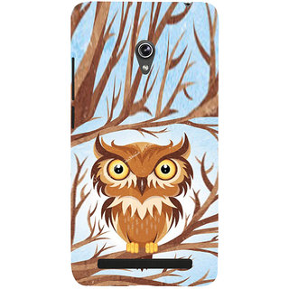 ifasho Animated Owl Pattern Back Case Cover for Asus Zenfone 6