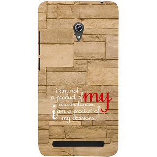 ifasho Kowledge quotes on stone pattern  Back Case Cover for Asus Zenfone 6