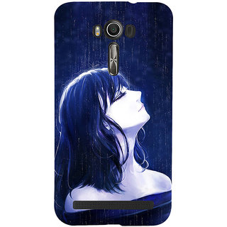 ifasho Girl in rain Back Case Cover for Asus Zenfone 2 Laser ZE601KL