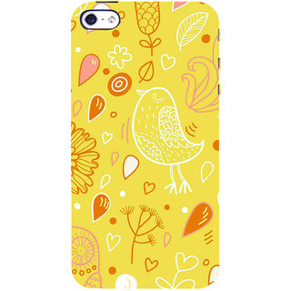 ifasho Animated Pattern colrful design cartoon flower with leaves Back Case Cover for Apple iPhone 5