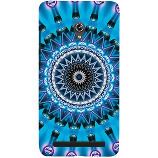 ifasho Animated Pattern design colorful flower in royal style Back Case Cover for Asus Zenfone 6