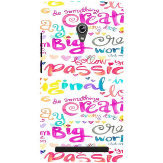 ifasho Motivatinal Quote Back Case Cover for Asus Zenfone 5