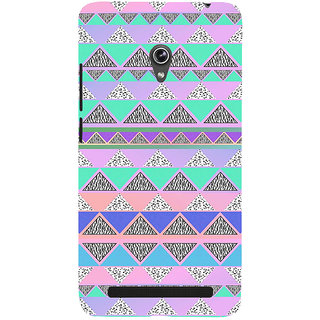 ifasho multi color 3Diangular Pattern Back Case Cover for Asus Zenfone 5