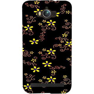 ifasho Animated Pattern colrful design flower with leaves Back Case Cover for Asus Zenfone Max