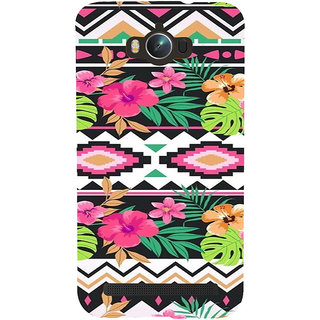 ifasho Animated Pattern colrful design flower with 3Daditional design Back Case Cover for Asus Zenfone Max