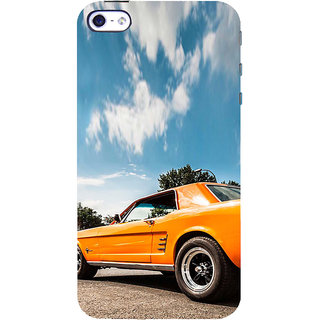 ifasho Orange colour Car Back Case Cover for Apple iPhone 5